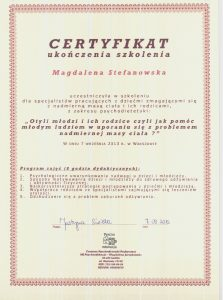 magda 3 223x300 - Kwalifikacje